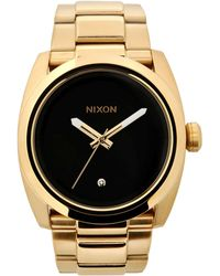 Nixon Gold Wrist Watch - Lyst