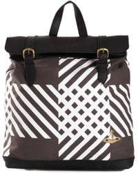 Vivienne Westwood Check Print Backpack black - Lyst