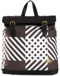 Vivienne Westwood Check Print Backpack - Lyst