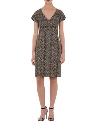 Missoni Flamepattern Shortsleeve Dress - Lyst