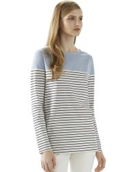 Gucci Striped Cotton T-Shirt - Lyst