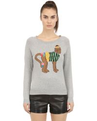 Beayukmui Embellished Intarsia Cotton Sweater - Lyst