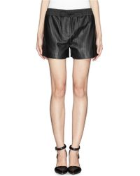 Alexander Wang Perforated Leather Shorts - Lyst