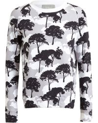 Osman Yousefzada Tree Printed Cotton Sweater - Lyst