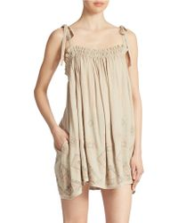 Free People Summer Sun Tunic Dress beige - Lyst
