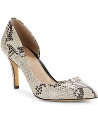 424 Fifth - Nyla Embossed Leather Dorsay Court Shoes - Lyst