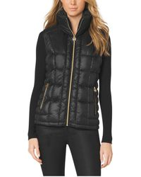 Michael Kors Quilted Puffer Vest - Lyst