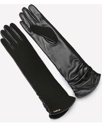 Bebe - Long Leather Gloves - Lyst