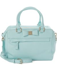 Kate Spade Ashton Leather Satchel blue - Lyst