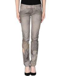 Isabel Marant Denim Trousers gray - Lyst