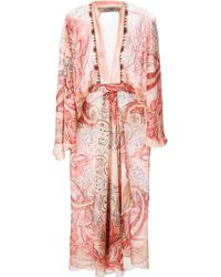 Etro Printed Kaftan Dress - Lyst