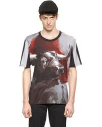 Dolce & Gabbana Slim Fit Bull Printed Cotton T-Shirt - Lyst