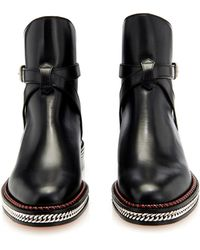 Christian Louboutin Chain Leather Chelsea Boots - Lyst