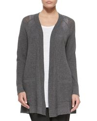 Eileen Fisher Washable Wool Long Cardigan - Lyst