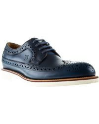 Tod's Blue Brogues - Lyst