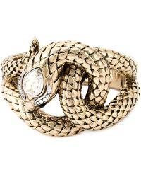 Roberto Cavalli Snake Bracelet - Lyst