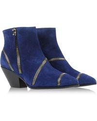 Giuseppe Zanotti Blue Ankle Boots - Lyst
