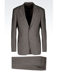 Armani Comfort Fit Suit In Virgin Wool - Lyst