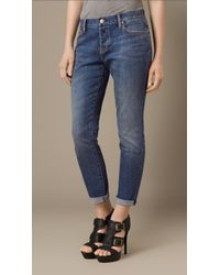Burberry Relaxed Fit Mid-Indigo Jeans - Lyst