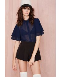 Nasty Gal Tara Button Up - Lyst