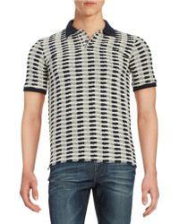 Lucio Castro - Textured Polo Shirt - Lyst