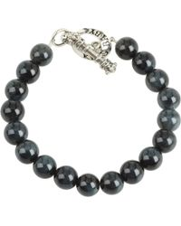 King Baby Studio 10 Mm Tiger Eye Bracelet with Toggle Clasp - Lyst