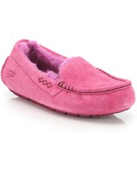 Ugg | Ansley Suede Pure Moccasin Slippers | Lyst