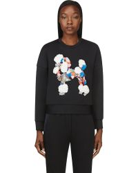 3.1 Phillip Lim Black Sequined and Embroidered Techno Jersey Sweatshirt - Lyst