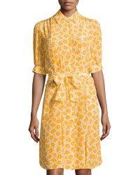 Love Moschino Wrap-Tie Floral-Print Dress - Lyst