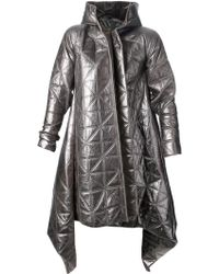 Gareth Pugh Patent Hooded Triangular Coat - Lyst