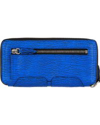 3.1 Phillip Lim - Electric Blue Textured Leather Pashli Wallet - Lyst