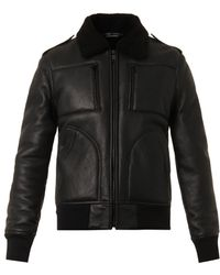 Marc Jacobs Shearlinglined Leather Jacket - Lyst