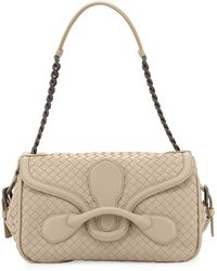 Bottega Veneta Intrecciato Medium Leather Shoulder Bag - Lyst