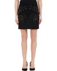 Stella McCartney Zipper-Detail Melton Mini Skirt - Lyst
