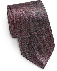 Missoni Silk Zig-zag Tie - Lyst