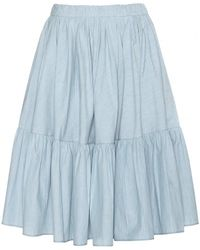 Miu Miu Cotton Skirt - Lyst