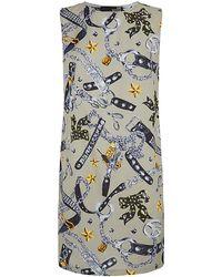 Love Moschino Charm Print Shift Dress - Lyst