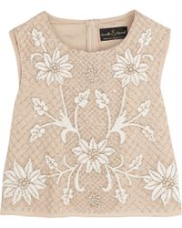 Needle & Thread Embellished Georgette Top - Lyst