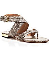 Ferragamo Flat Thong Sandals - Magritta - Lyst
