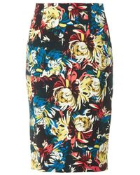 Erdem Frida Trinity Blossom-print Pencil Skirt multicolor - Lyst