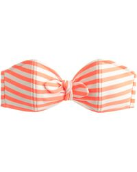 J.Crew Striped Bandeau Bow Bikini Top - Lyst