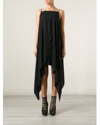 Gareth Pugh Black Asymmetrical Dress - Lyst