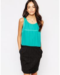 See U Soon - 2 In Dress In With Textured Skirt - Lyst