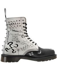 Dr. Martens Core Studded Graffiti Leather Boots - Lyst