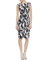 Nicole Miller   Hummingbird Cotton Metal Dress   Lyst