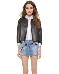 DSquared² Leather Long Sleeve Jacket - Black - Lyst