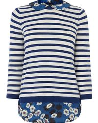 Oasis Daisy Stripe Shirt Tails Top - Lyst