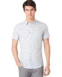 Calvin Klein Shadow Checked Shirt - Lyst