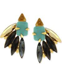 Vince Camuto - Gold-Tone Multicolour Fan Cluster Stud Earrings - Lyst