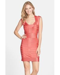 French Connection 'Miami Spotlight' Cap Sleeve Bandage Dress - Lyst